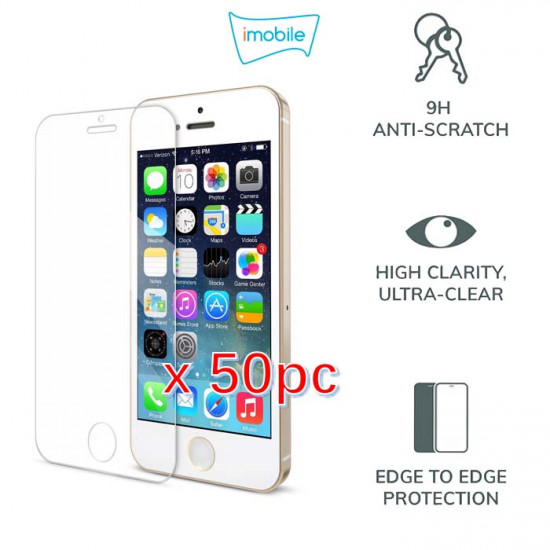 (4106) For iPhone 5s  / iPhone SE / iPhone 5C / iPhone 5 Tempered Glass [Pack of 50]